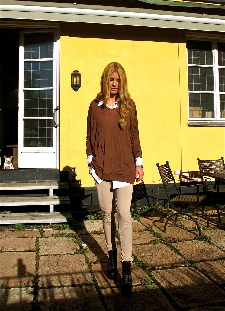brun tröja