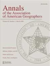Annals Of Association Of American Geographers + The Professional Geographer omslag