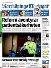Norrköpings Tidningar omslag