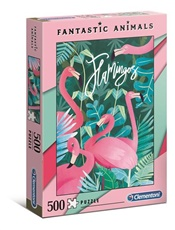 Fantastic Animals Flamingo Pussel, 500 bitar omslag