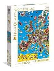 Europe Map Pussel, 1000 bitar omslag