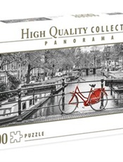 Panorama Amsterdam Bicycle Pussel, 1000 bitar omslag