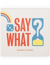 Say What - Spel omslag