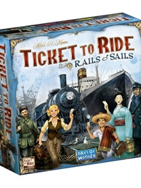 Ticket To Ride - Rails & Sails omslag