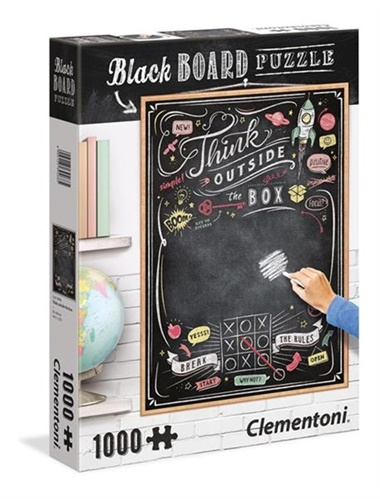 Chalkboard Puzzle Think Outside The Box Pussel, 1000 bitar omslag