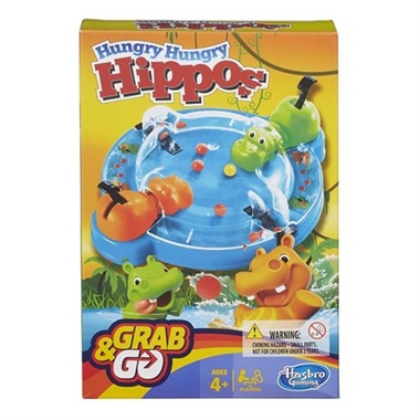 Hungry Hungry Hippos, resespel omslag