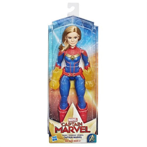 Captain Marvel figur, signaturdocka omslag