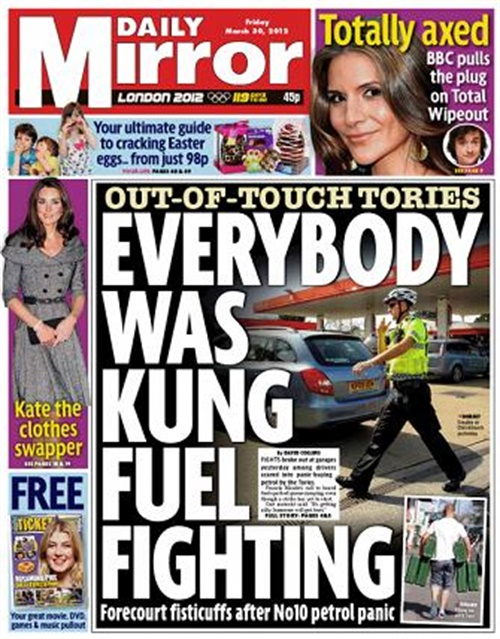 Daily Mirror (mon-sat) omslag