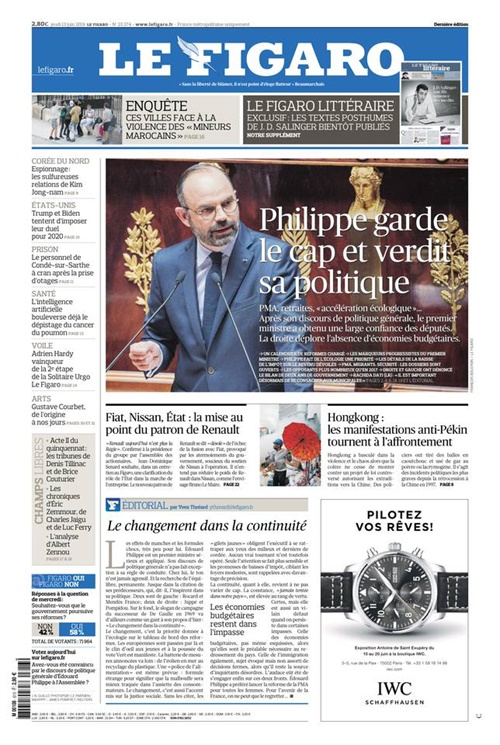 Le Figaro (daily) omslag