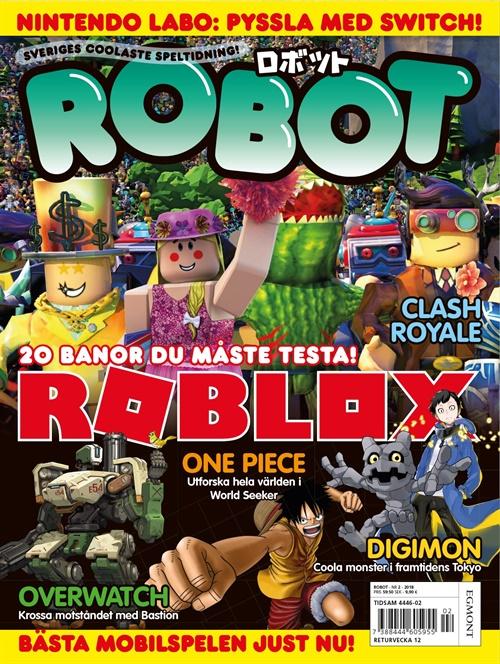 robot spel tidning