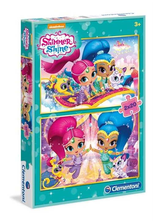 Shimmer and Shine Pussel, 2 x 20 bitar omslag