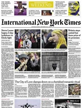 International New York Times (Saturday Only) omslag