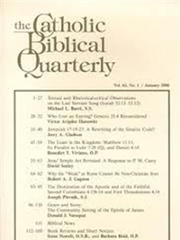 Catholic Biblical Quarterly omslag