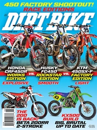 Dirt Bike Magazine omslag
