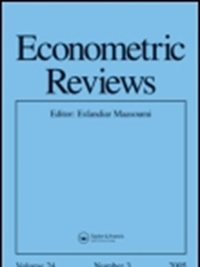 Econometric Reviews omslag