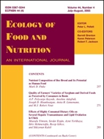 Ecology Of Food And Nutrition omslag